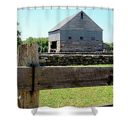 Old Connecticut Barn Shower Curtain