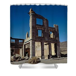 Old Cook Bank Building Shower Curtain