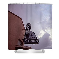 Shower Curtain featuring the photograph Old Cordell Photo Studio by Toni Hopper