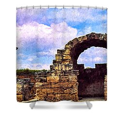 Old Corinth Shop Shower Curtain