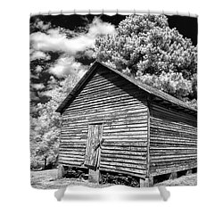 Old Corn Barn Shower Curtain
