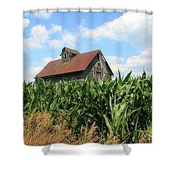 Old Corn Crib Shower Curtain