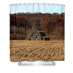 Old Country Barn In Autumn #1 Shower Curtain