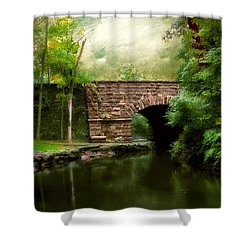 Old Country Bridge Shower Curtain by Jessica Jenney