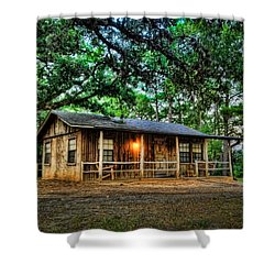 Old Country Cabin Shower Curtain