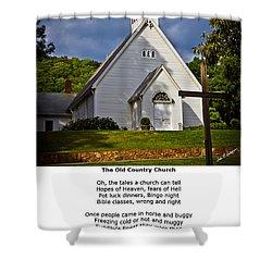 Old Country Church Shower Curtain by John Haldane