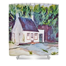Former Old Country Gas Station Shower Curtain