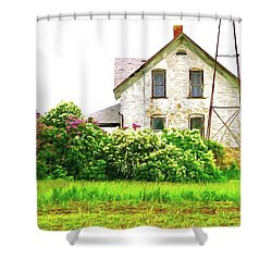 Old Country House Shower Curtain by Susan Crossman Buscho