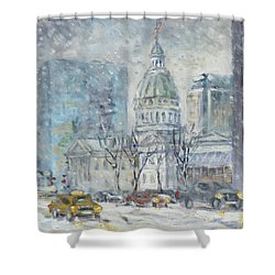 Old Courthouse From N 4th St. St.louis Shower Curtain