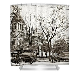 Old Courthouse Public Square Wilkes Barre Pa Late 1800s Shower Curtain