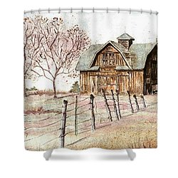 Old Crawford Colorado Barn Shower Curtain