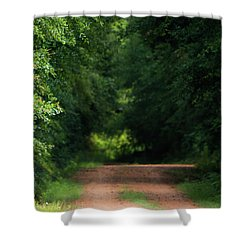Shower Curtain featuring the photograph Old Dirt Road by Shelby Young