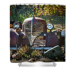 Old Dodge Rust Bucket Shower Curtain