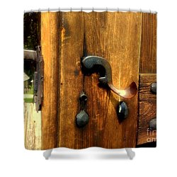 Old Door Handle Shower Curtain
