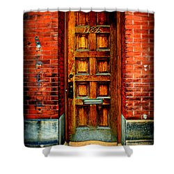 Old Door Shower Curtain by Perry Webster