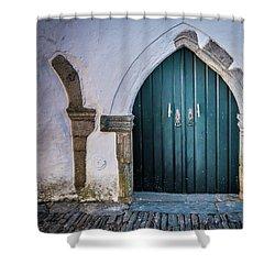 Old Doorway In Monsaraz Shower Curtain