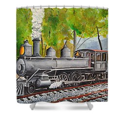 Old Engine 8 Shower Curtain