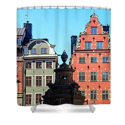 Old European Architecture Shower Curtain