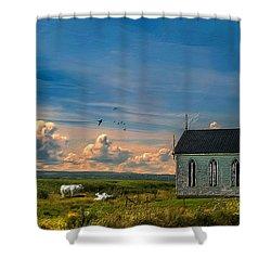 Old Evangeline Church Shower Curtain