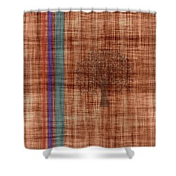 Old Fabric Shower Curtain