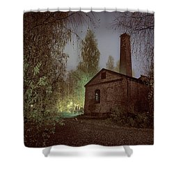 Old Factory Ruins Shower Curtain
