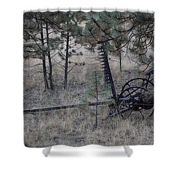 Old Farm Implement Lake George Co Shower Curtain