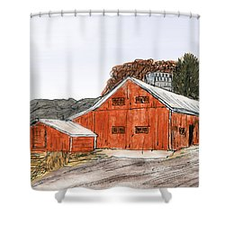 Old Farm In The Country Shower Curtain by R Kyllo