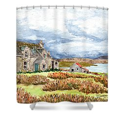 Old Farm Isle Of Lewis Scotland Shower Curtain