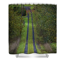 Old Farm Road Shower Curtain
