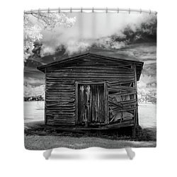 Old Farm Shed II Shower Curtain
