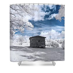 Old Farm Shed IIi Shower Curtain