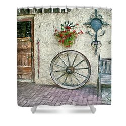 Shower Curtain featuring the photograph Old Farmhouse by Jutta Maria Pusl