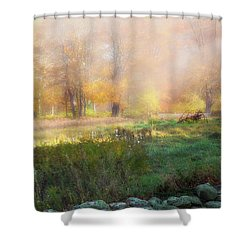 Shower Curtain featuring the photograph Old Farmland by Bill Wakeley