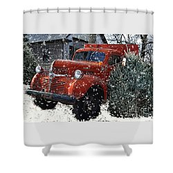Old Fashion Country Christmas  Shower Curtain
