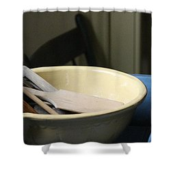 Old Fashioned Baking Tools Shower Curtain