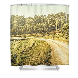 Old-fashioned Country Lane Shower Curtain