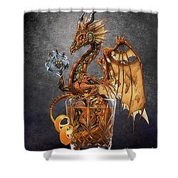 Old Fashioned Dragon Shower Curtain