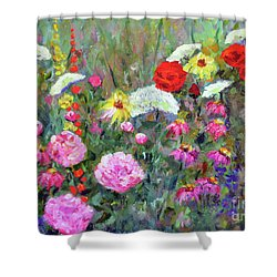 Old Fashioned Garden Shower Curtain by Claire Bull