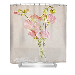 Old Fashioned Sweet Peas Shower Curtain