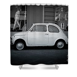 Old Fiat On The Streets Of Florence Shower Curtain by Edward Fielding
