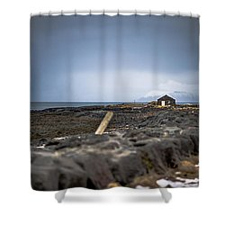 Old Fisherman's Coastal House Shower Curtain