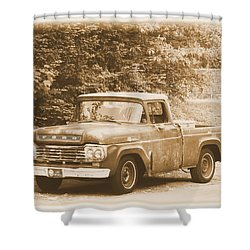 Old Ford Truck Shower Curtain