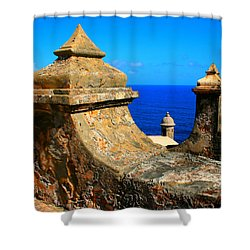 Old Fort Puerto Rico Shower Curtain by Perry Webster