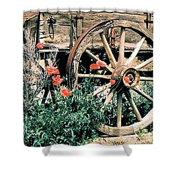 Old Freight Wagon Shower Curtain