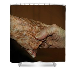 Old Friends Shower Curtain by Carolyn Dalessandro