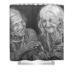 Old Friends, Smokin' And Jokin' 2 Shower Curtain
