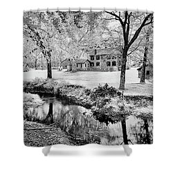Shower Curtain featuring the photograph Old Frontier House by Paul W Faust - Impressions of Light