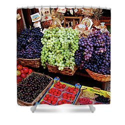 Shower Curtain featuring the photograph Old Fruit Store by Frank Stallone