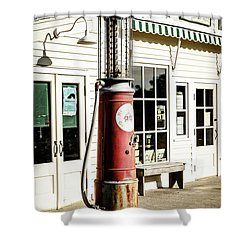 Shower Curtain featuring the photograph Old Fuel Pump by Alexey Stiop