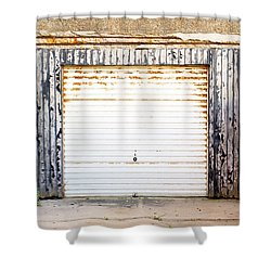 Old Garage Door Shower Curtain